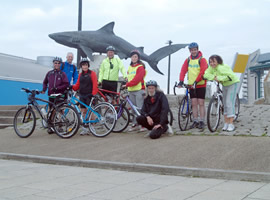 Cycling group by the Deep