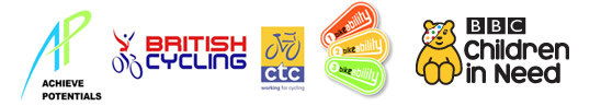 Supported by British Cycling, CTC, Bike Ability and BBC Children in Need